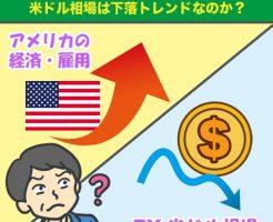 米国の経済・雇用は好調なのになぜFXの米ドル相場は下落トレンドなのか?